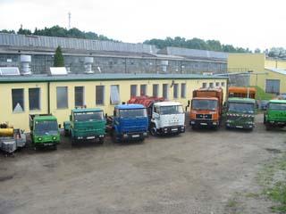 Sprzęt specjalistyczny do transportu odpadów